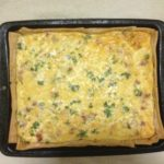 Party Size Carmelized Onion And Bacon Quiche