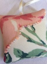 pink puffy pillow gift tag