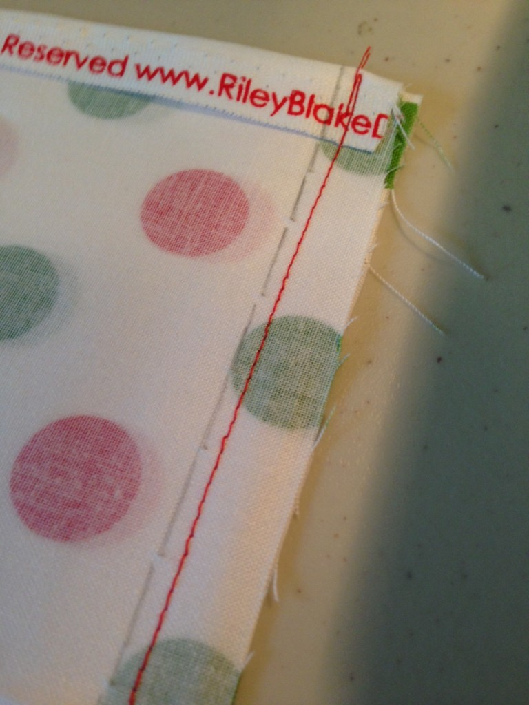 Sewing the journal cover seams