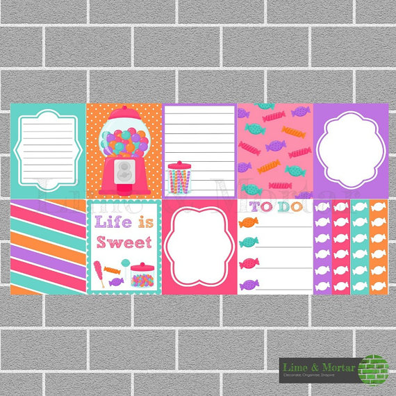 Lime and Mortar planner stickers