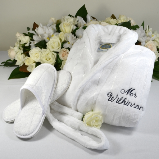 Mr and mrs embroidered bath robes wonderfully women for Mr and mrs spa