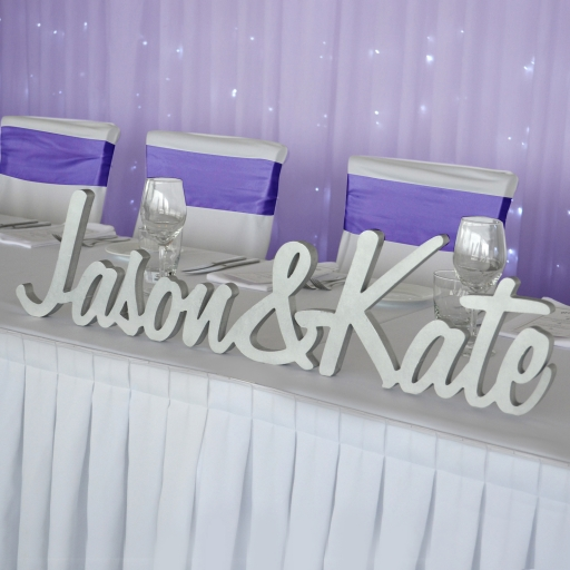 personalised bride and groom name plaque