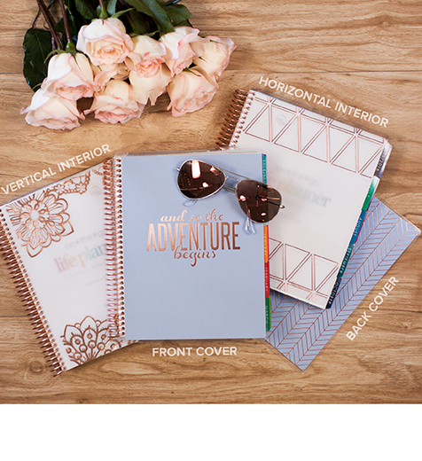 rose gold life planner from erin condren 2015