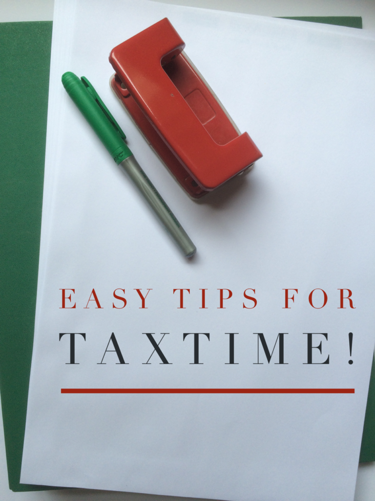 how to make tax time less stressful