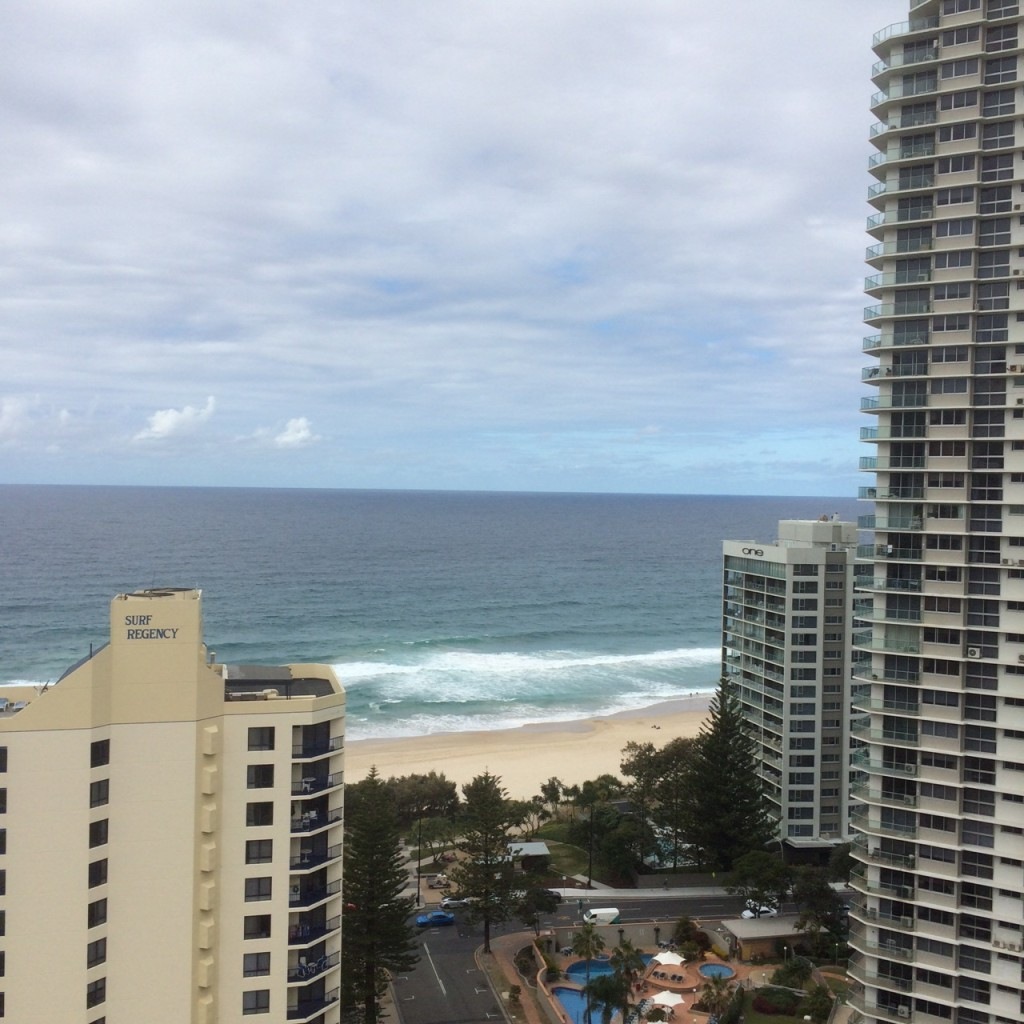 View from level 18 Mantra Legends Gold Coast