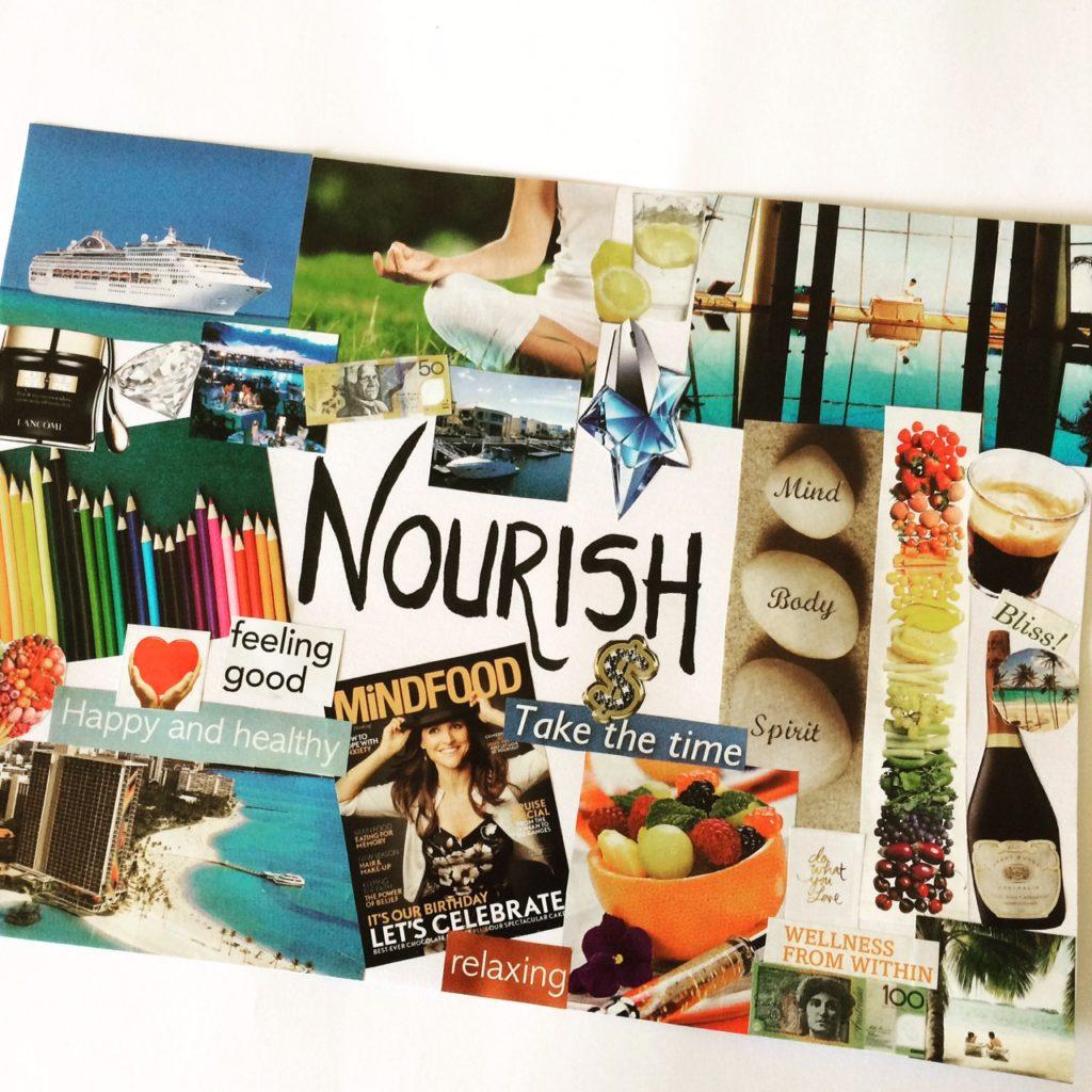 Nourish vision board