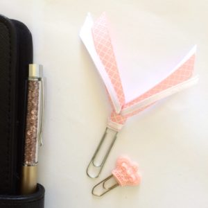 Peach Royale planner clip set