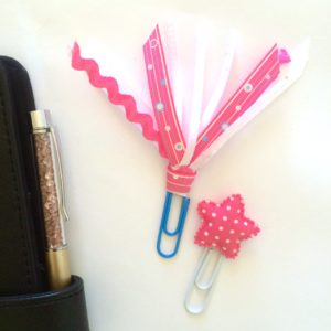 ribbon and star planner clip set