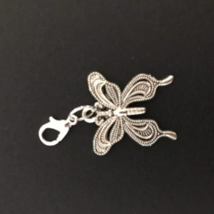 silver midori travelers notebook butterfly charm