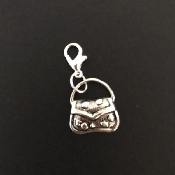 Silver purse midori travelers charm