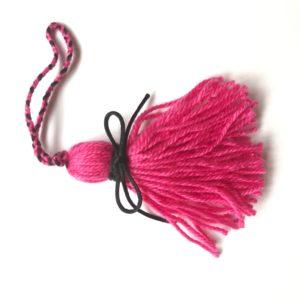 pink wool planner tassel