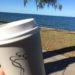 two of my favourite things the beach and coffee