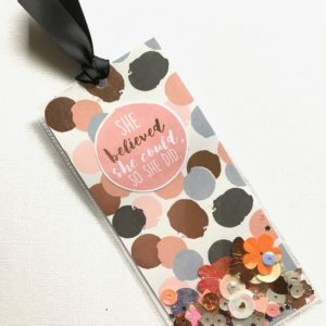 Rose Gold Shaker Bookmark