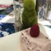Gluten free ice cream and berry cake