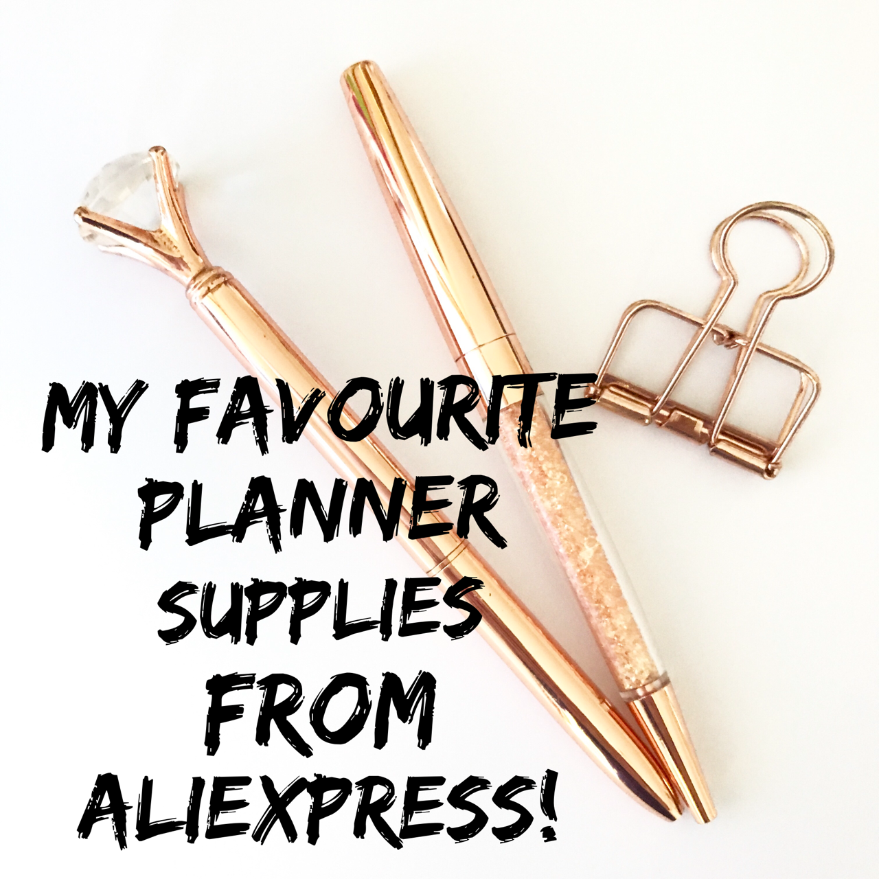 Bargain planner supplies from Aliexpress