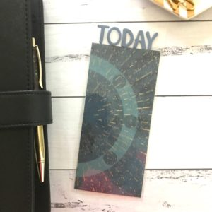 space theme book mark