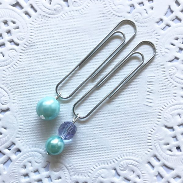 Mint pearl planner clip