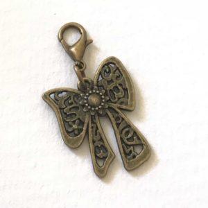 Vintage bow planner charm