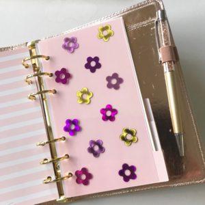 foil flower planner divider
