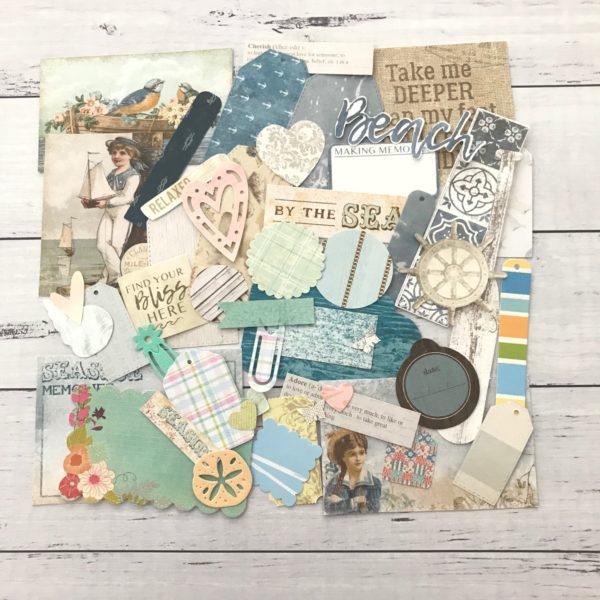 seaside holiday diecut paper pack