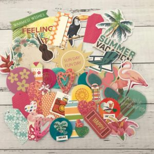 Tropical die cut paper pack