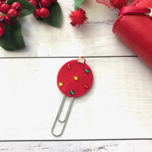 Christmas bauble planner accessory
